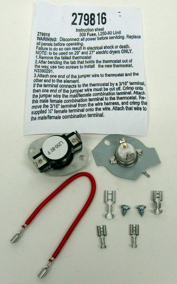 Details about  For Kenmore Dryer Thermal Cut Off Kit # OD4424903WP831