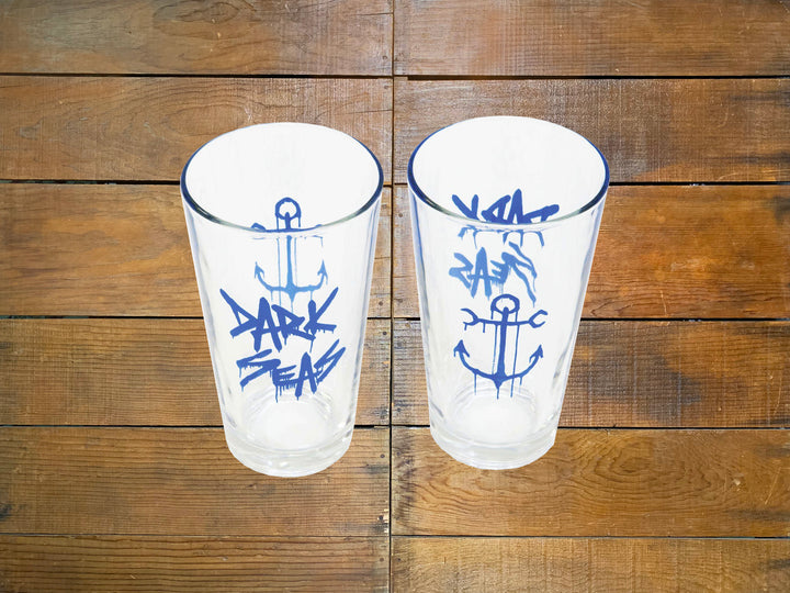 "Dark Seas ""Froth"" Pint Glass"
