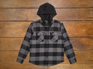 "Brixton ""Bowery"" Hooded Flannel"