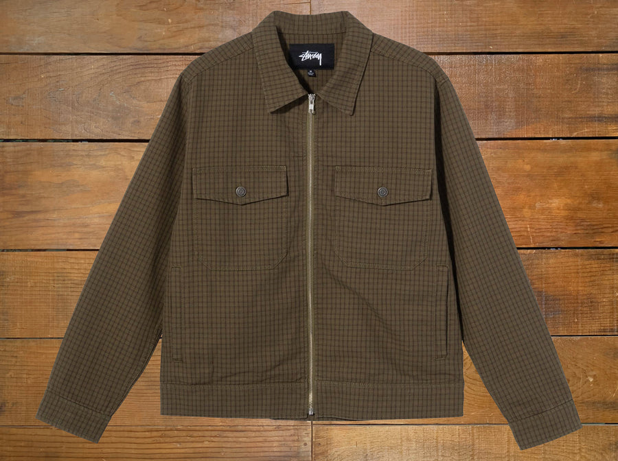 "Stussy ""Check Garage"" Jacket"