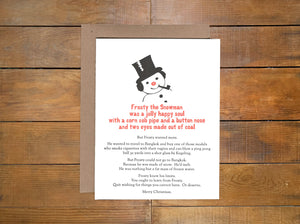 "Power and Light Press ""Frosty"" Holiday Card"