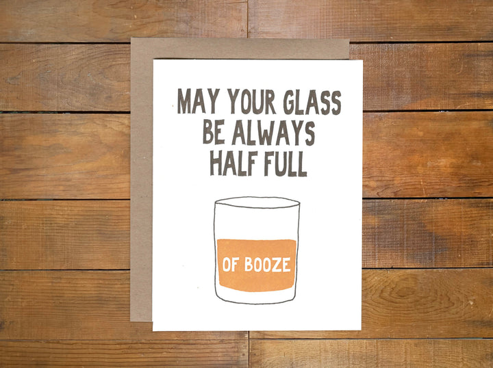 "Power and Light Press ""Glass Half Full"" Card"