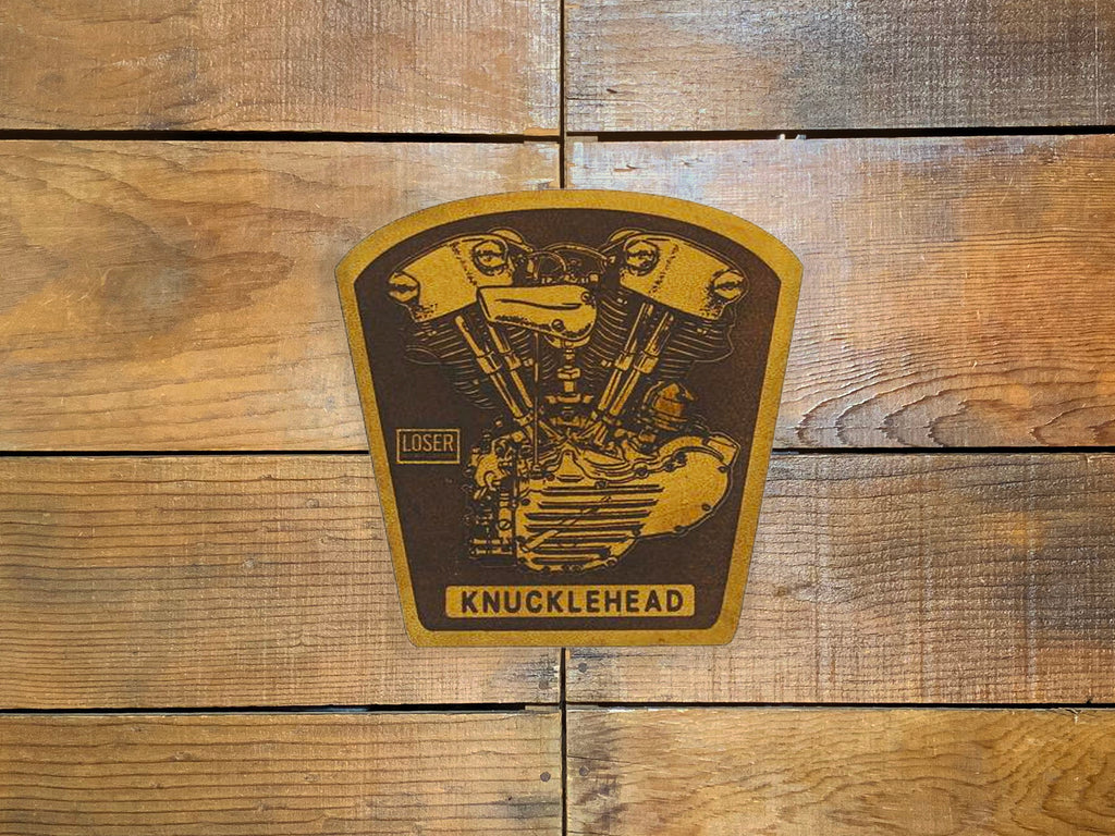 "Loser Machine ""Knuckle Motor"" Leather Patch"