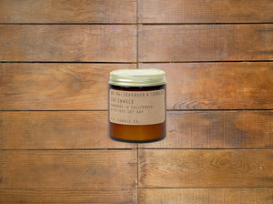 "P.F. Candle Co. ""Teakwood & Tobacco"" 3.5 oz Mini Candle"