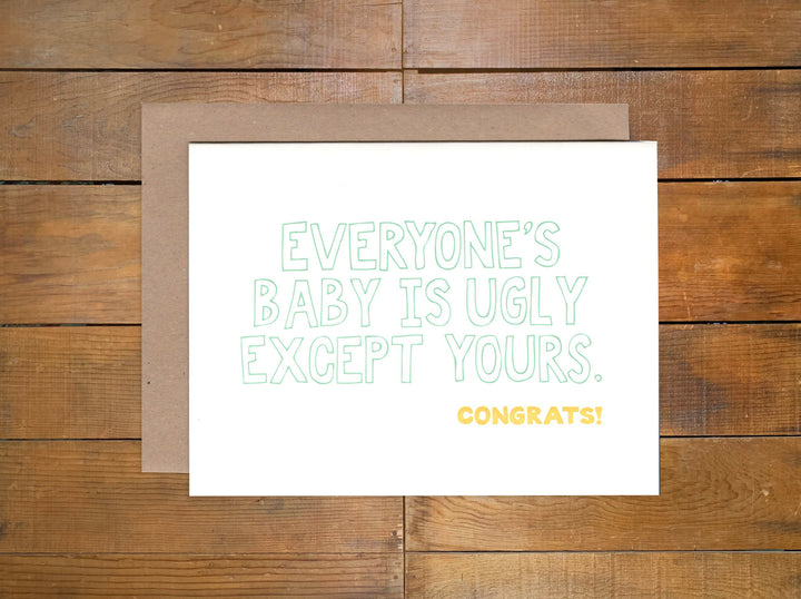 "Power and Light Press ""Ugly Baby"" Card"
