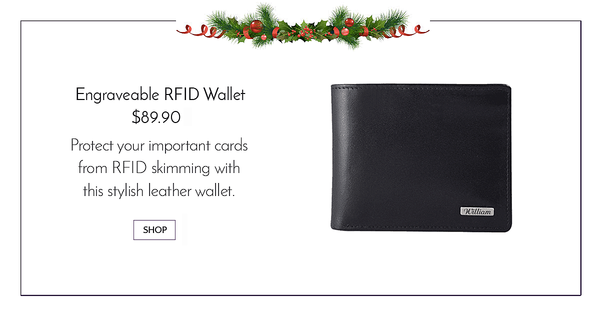 Custom Engraveable Wachterlein RFID blocking leather wallet