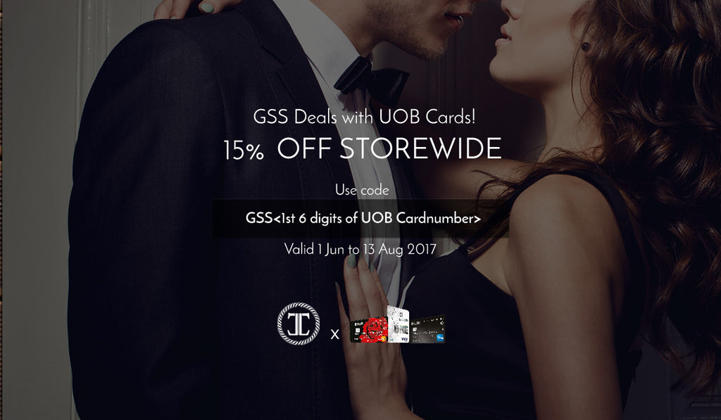 15 Off storewide with UOB Credit Cards