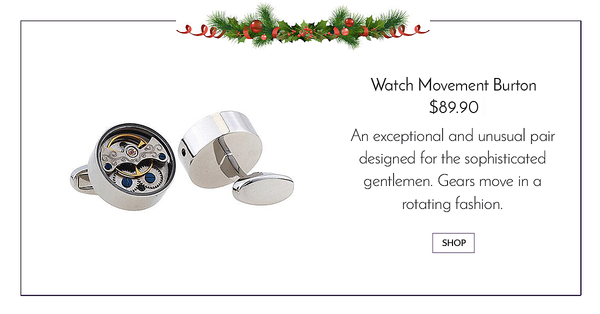 Silver Tourbilion Watch Cufflinks - Watch Movement Burton