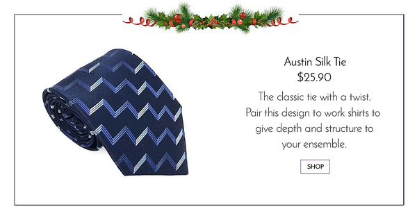 Blue and Navy stripe textured necktie - Austin Silk Tie