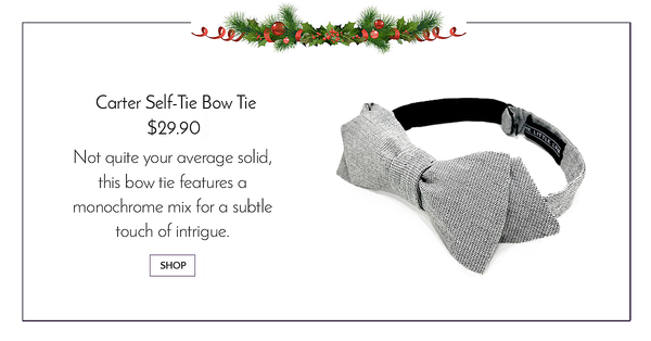 Grey Monochrome Self Tie Bow Tie - Carter Bowtie
