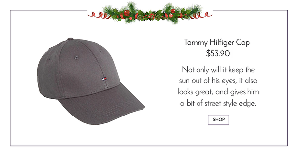 Grey tommy hilfiger baseball cap