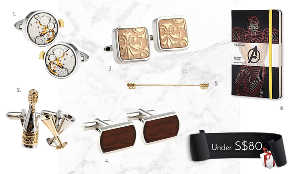Men's Cufflinks and Accessories Under 80