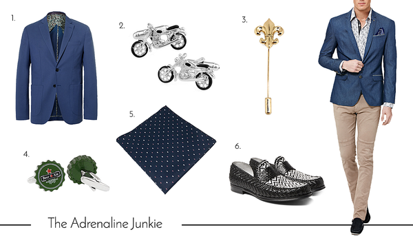 Cufflinks and Accessories for the Adrenaline Junkie