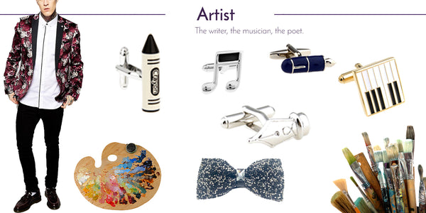 Wedding Cufflinks and Men's Accessories for the Artist