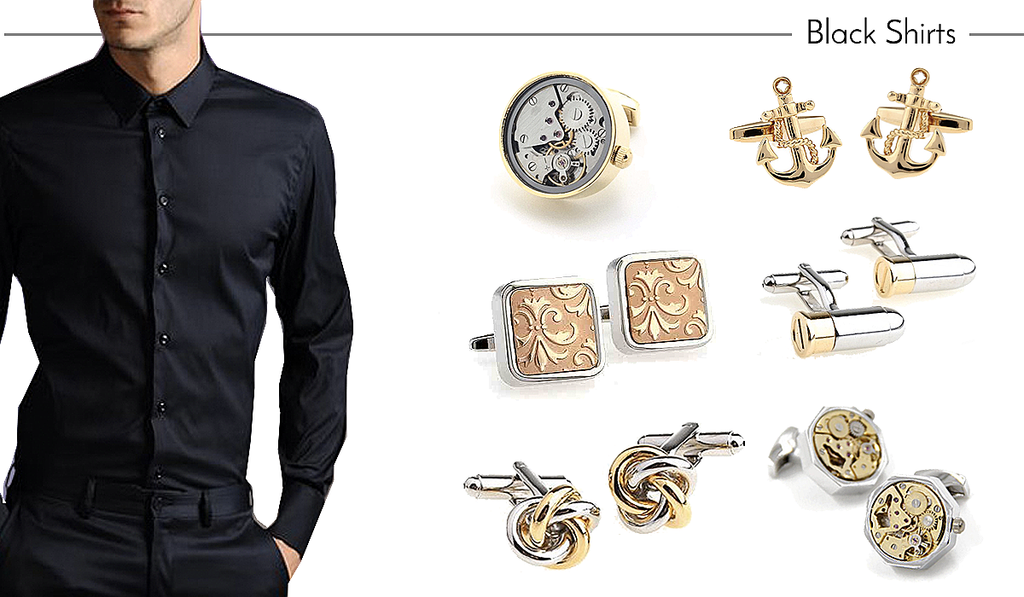 How to Match Cufflinks to Black Work Shirts
