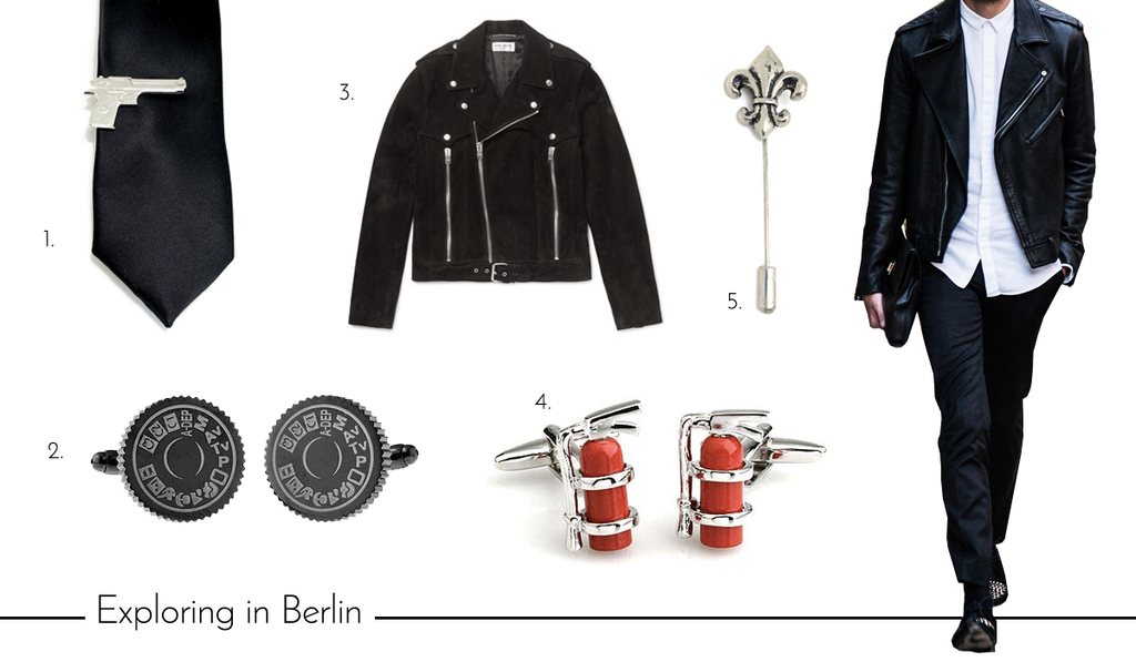 Men's Grunge Cufflinks and Accessories for Summer Vacation in Berlin