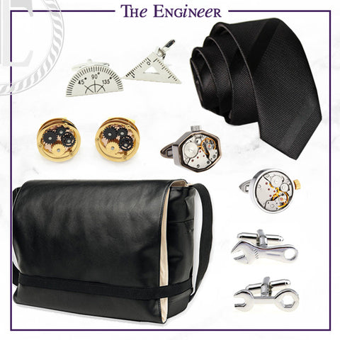 Men's Cufflinks and Accessories for the Engineer Dad