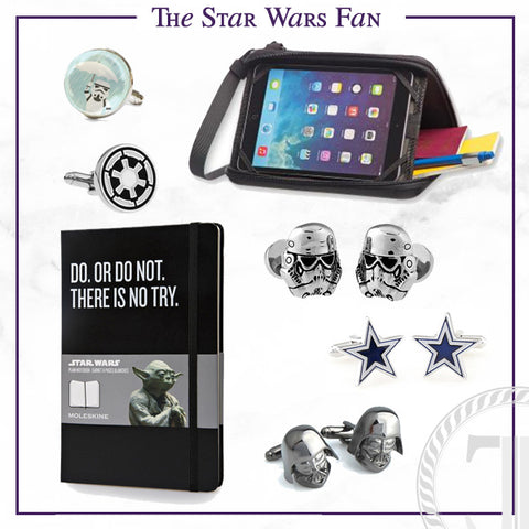 Men's Cufflinks and Accessories for the Star Wars Fan Dad
