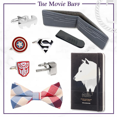 Men's Cufflinks and Accessories for the Movie Buff Dad