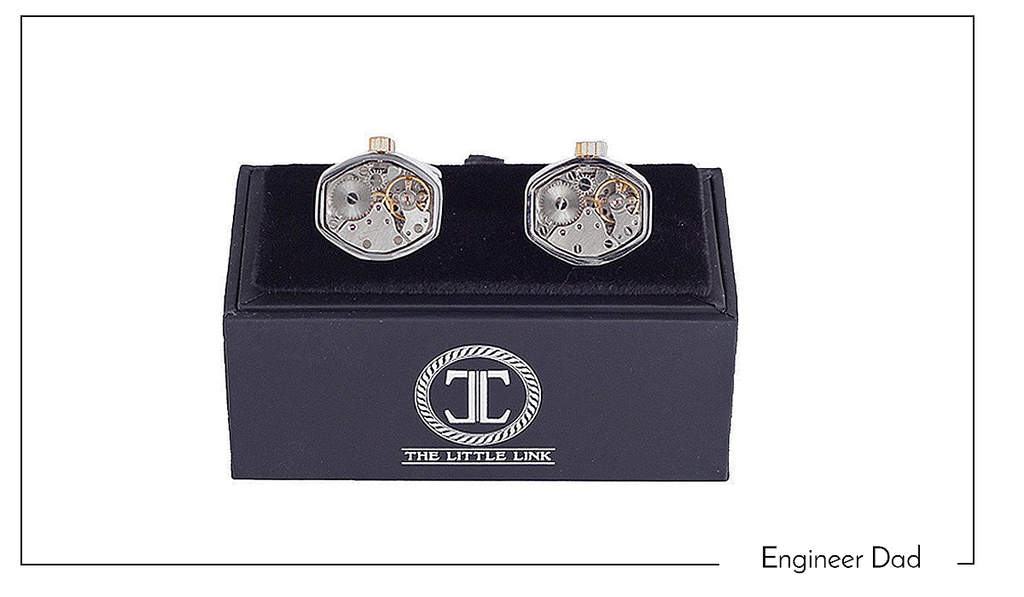 Silver and Gold Tourbillion Watch Cufflinks - Michael