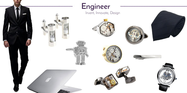Wedding Cufflinks and Accessories for the Engineer
