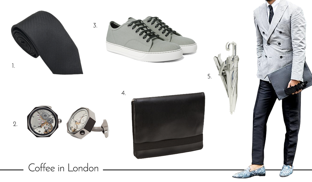 Men's Cufflinks and Accessories for Summer Vacation in London