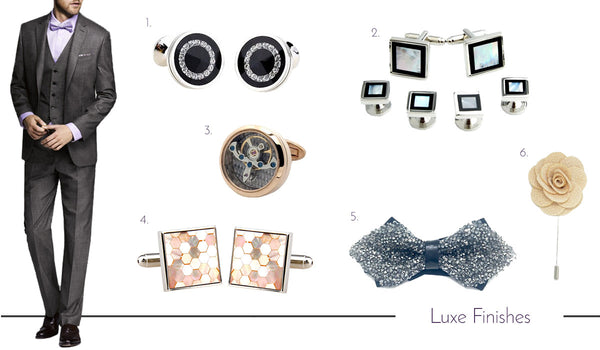 Men's Luxurious Cufflinks, Ties and Accessories