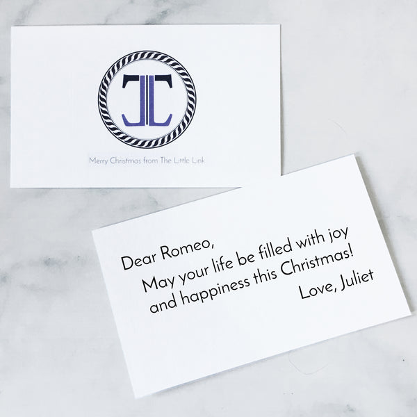 Christmas Gift Card and Note