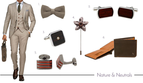 Men's Cufflinks, Ties and Accessories - Neutrals