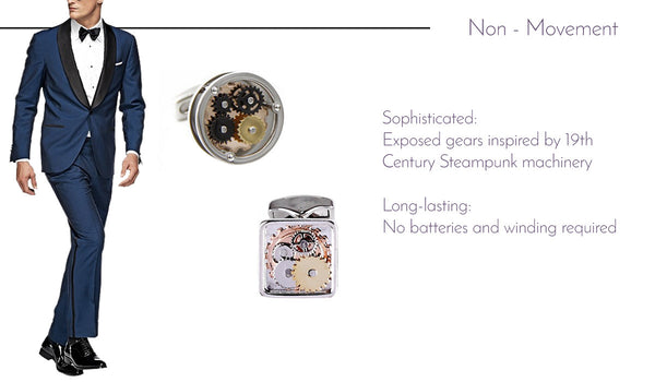 Non Movement Watch Movement Cufflinks