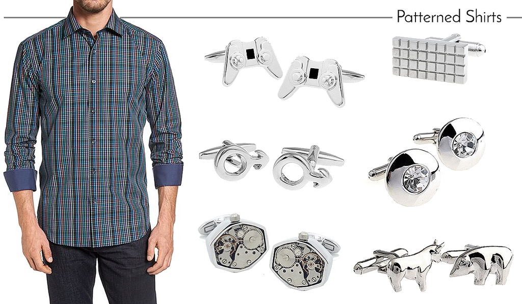 How to Match Cufflinks to Patterned Work Shirts
