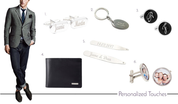 Men's Personalized Cufflinks, Ties and Accessories