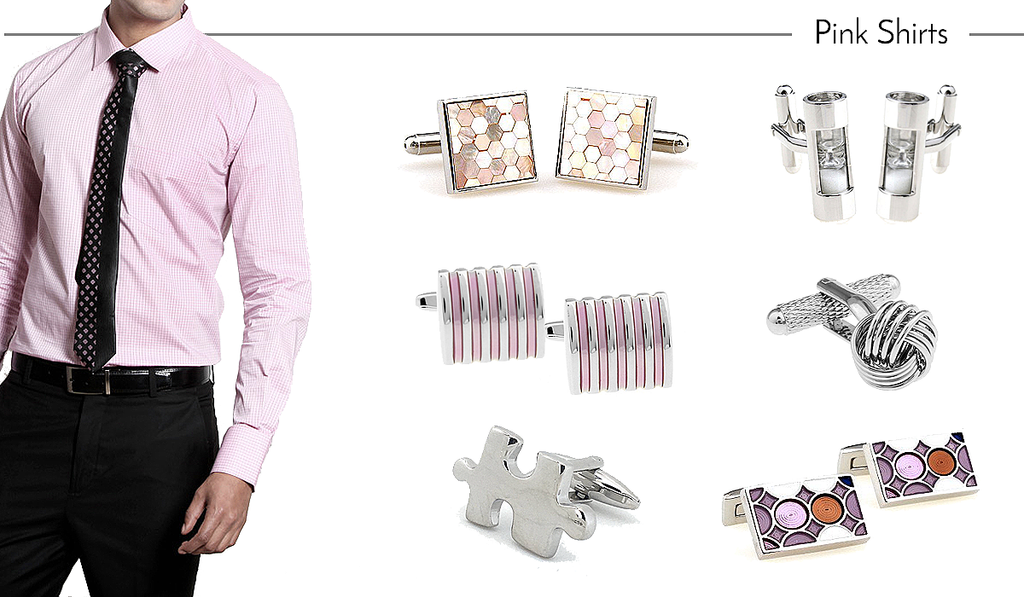 How to Match Cufflinks to Pink Work Shirts