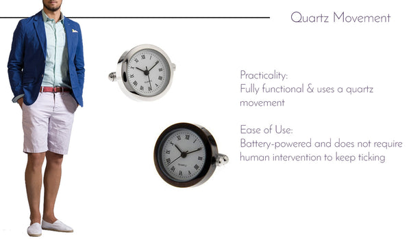 Quartz Watch Movement Cufflinks