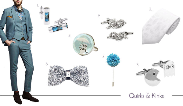Men's Quirky Cufflinks, Ties and Accessories