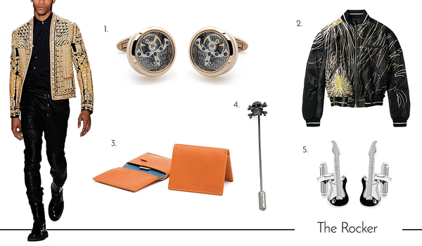 Cufflinks and Accessories for the Rocker Dad