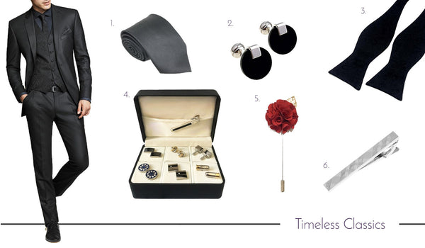 Men's Classic Cufflinks, Ties and Accessories