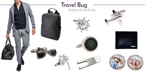 Wedding Cufflinks and Men's Accessories for the Travel Bug
