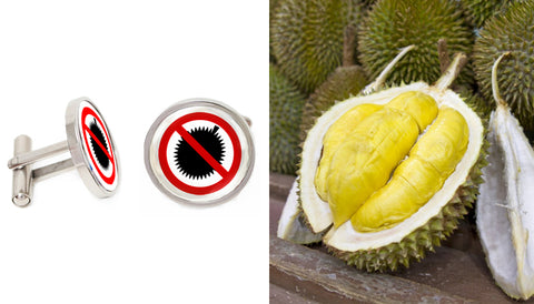 Singapore Cufflinks Collection - No Durians