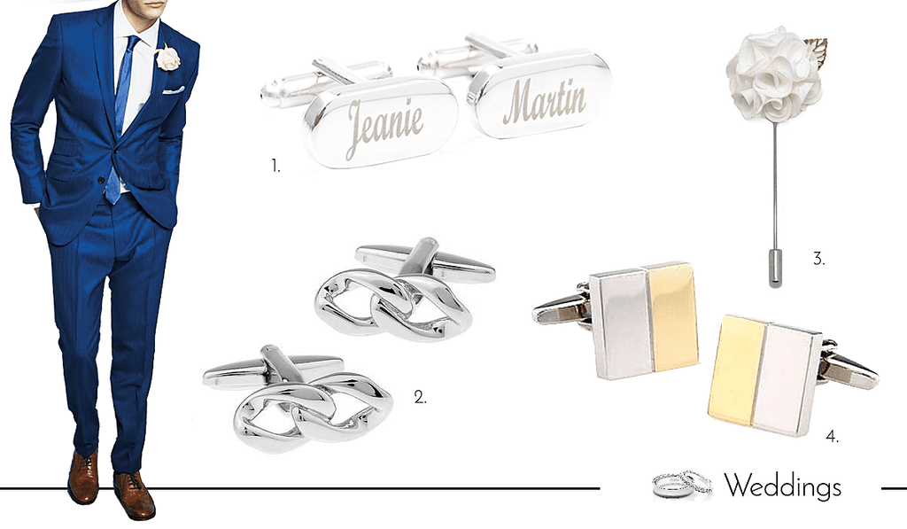 Mens Cufflinks and Accessories for Weddings