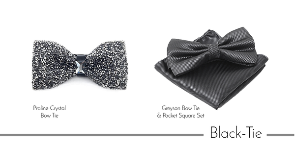 Men's black tie accessories - Bow Ties