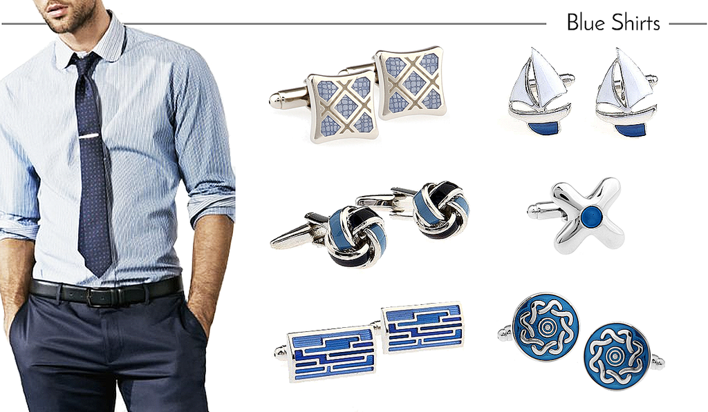 How to Match Cufflinks to Blue Work Shirts