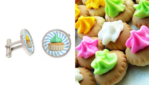 Singapore Cufflinks Collection - Gem Biscuits