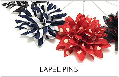wedding guide lapel pins flowers
