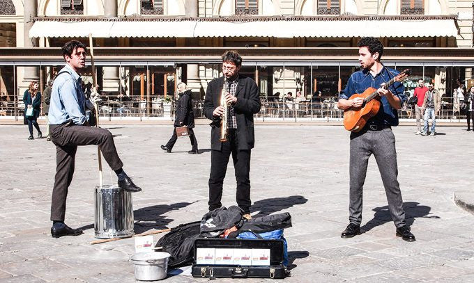Jam with Street Musicians in Florence Italy