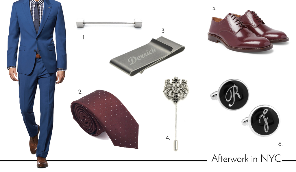 Men's Cufflinks and Accessories for Summer Vacation in New York