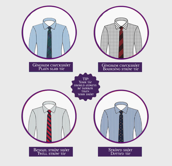 Match Ties to Patterned Men's Shirts