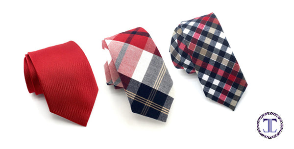 Red Patterned Ties