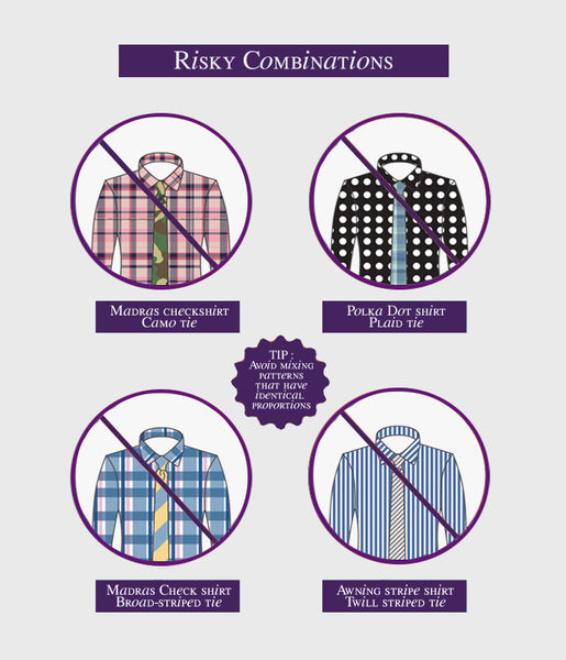 Matching the right tie patterns to Men's Work Shirts