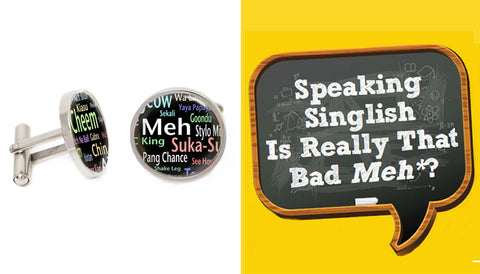 Singapore Cufflinks Collection - Singlish Dictionary